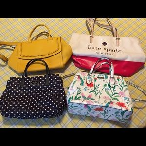 Bundle of 4 Kate Spade New York handbags